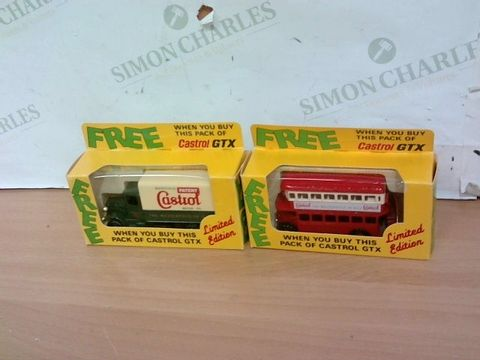 LOT OF 2 LLEDO CASTROL GTX COLLECTIBLE MODELS