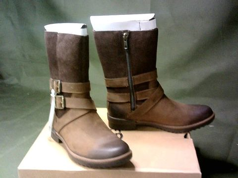 """UGG WOMEN'S """"LORNA"""" BOOTS - UK SIZE 4, BROWN"""