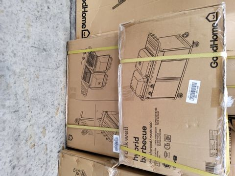 BOXED GOODHOME ROCKWELL HYBRID BARBECUE (2 BOXES)