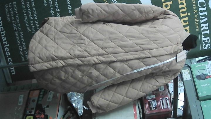 MISSGUIDED LONG DIAMOND QUILTED BOMBER COAT UK SIZE 10