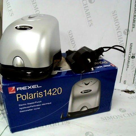 REXEL POLARIS 1420 ELECTRIC STAPLER/PUNCH