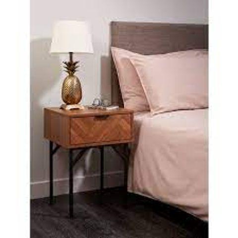 BOXED CHARLETTE 1-DRAWER BEDSIDE TABLE (1 BOX)