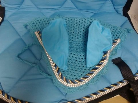 GALLOP SHOP NUMNAH GENERAL SADDLE PADS WITH MATCHING FLY VEIL SET & JEWEL TRIMMING - FOR PONY