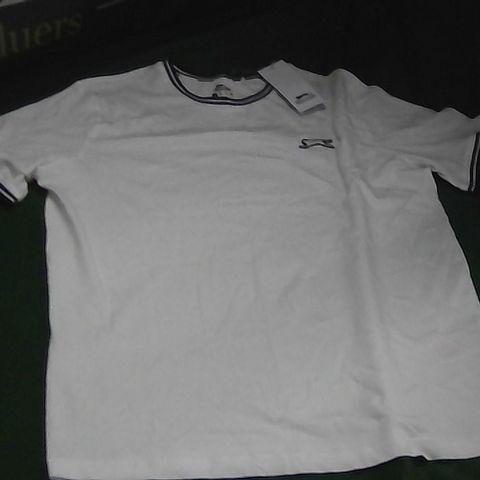 SLAZENGER WHITE T-SHIRT LARGE