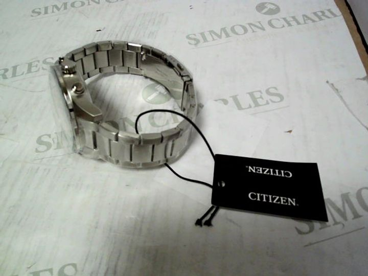 CITIZEN BLUE DIAL CHRONOGRAPH STAINLESS STEEL STRAP WATCH