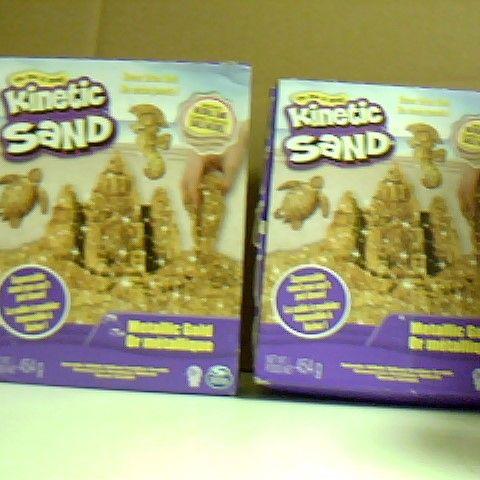 KINETIC SAND METALLIC GOLD 2 BOXES