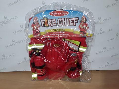 MELISSA & DOUG FIRE CHIEF COSTUME - 3-6