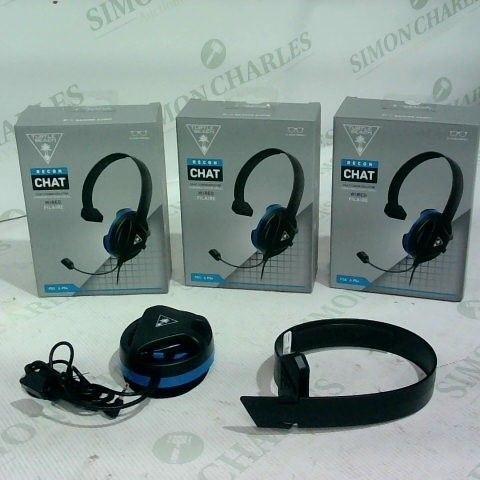 3 X TURTLE BEACH RECON CHAT WIRED HEADSET PS4