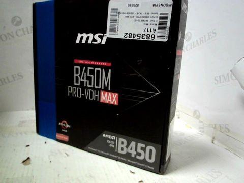 MSI B450M PRO-VDH MAX MATX MOTHERBOARD
