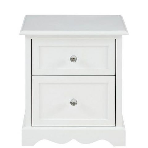TIA 2 DRAWER BEDSIDE CHEST