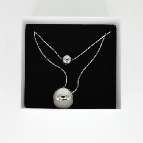 BRAND NEW BOXED CALVIN KLEIN UNPAIRED SILVER TONE NECKLACE