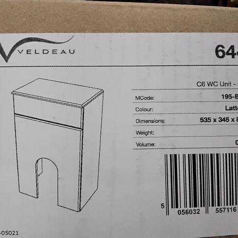 BOXED VELDEAU C6 WC UNIT 50CM LATTE GLOSS