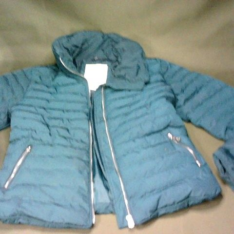 TOKYO LAUNDRY PADDED JACKET IN TEAL - UK 12