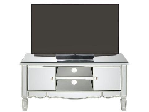 BOXED GRADE 1 MIRAGE MIRRORED TV UNIT (1 BOX)