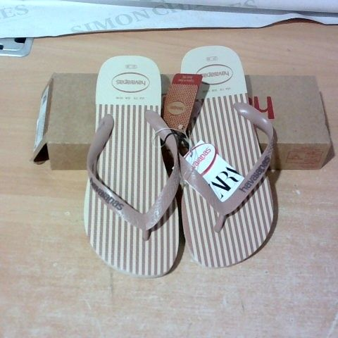 BOXED PAIR OF HAVAIANAS SIZE 37/38