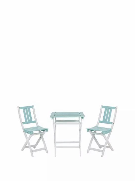 ANTIGUA PAINTED WOOD BISTRO SET- COLLECTION ONLY RRP £159.99