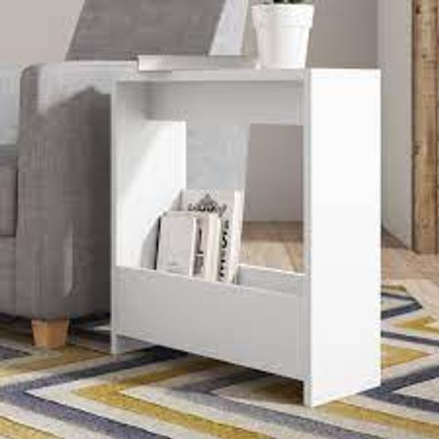 BOXED BEELER SIDE TABLE- WHITE