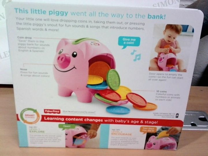 FISHER PRICE TEACHES SMART STAGES PIGGY BANK TOY