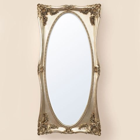 BOXED BETH CHAMPAGNE FLOOR MIRROR