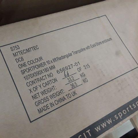 BOXED SPORTSPOWER TRAMPOLINE PARTS (1 BOX)