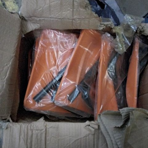 BOX OF APPROXIMATELY 20 ASSORTED PLASTIC SHOVEL HEADS