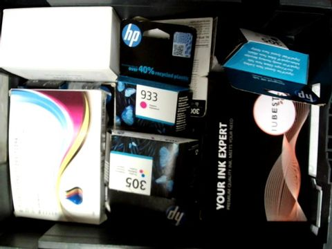 LOT OF A LARGE QUANTITY OF ASSORTED PRINTER INKS