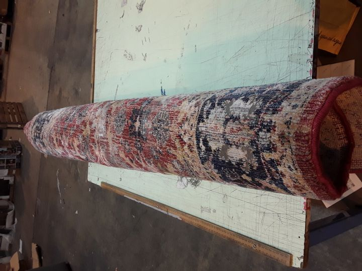 HOLBEACH RED PATTERNED RUG 160X229CM