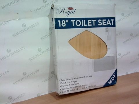 "ROYAL 18""MDF TOILET SEAT"