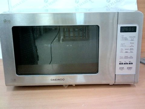 DAEWOO STAINLESS STEEL DUO-PLATE MICROWAVE, 800 W, 20 LITRE, SILVER
