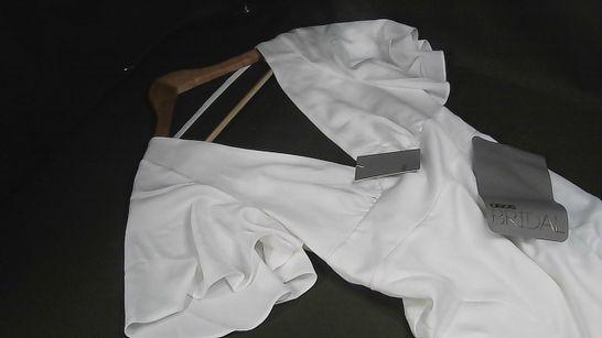 ASOS BRIDAL DRESS IN WHITE - UK 10