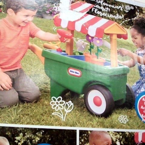 CHILDRENS 2 IN 1 GARDEN WHEEL BARROW