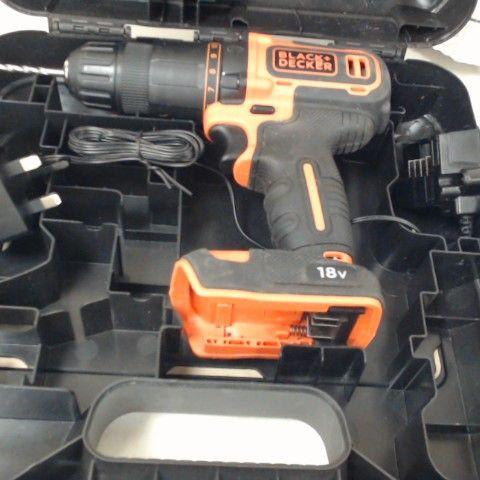 BLACK+DECKER 18 V CORDLESS 2-GEAR COMBI HAMMER DRILL POWER TOOL