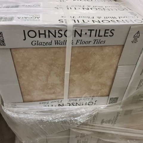 PALLET OF APPROXIMATELY 48 BRAND NEW CARTONS OF 10 ACCONA LIGHT ROCK SATIN TILES - 36X27.5CM