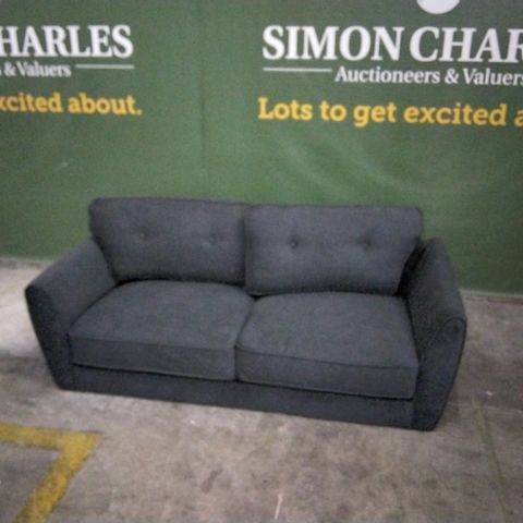 DESIGNER CHARCOAL FABRIC TWO SEATER SOFA