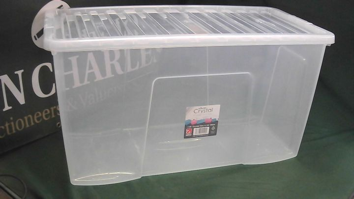 WHAM CRYSTAL 110L STORAGE BOX WITH LID
