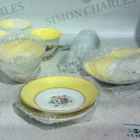 LOT APPROX. 15 ASSORTED ITEMS TO INCLUDE: PLATES, T-CUPS, SAUCERS
