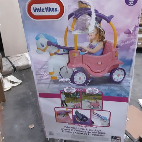 BOXED LITTLE TIKES PRINCESS COSY HORSE CHARIOT