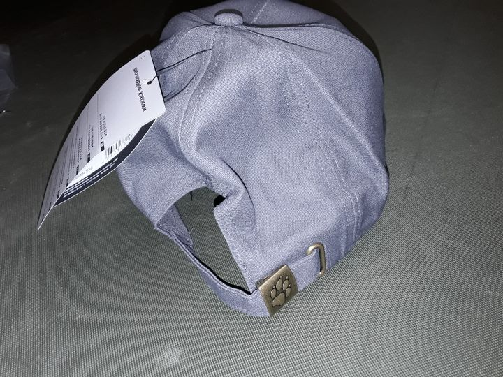 JACK WOLFSKIN BASEBALL CAP IN DARK STEEL - ONE SIZE 56-61CM