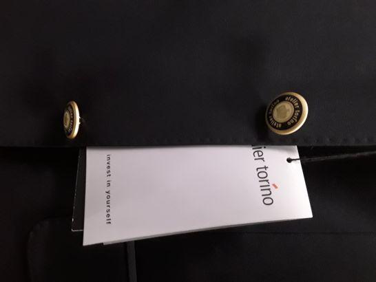 BRAND NEW ATELIER TORINO EASY MIX 3-BUTTON BLAZER IN BLACK - 38L