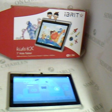 """IBRIT KIDS KX TABLET 7"""" KIDS TABLET, BOXED AND POWERS ON"""