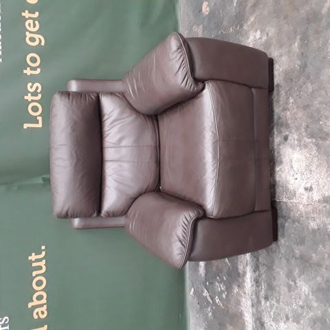 QUALITY HAYLEY BROWN FAUX LEATHER FIXED FRAME ARMCHAIR