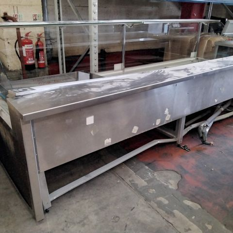 """LARGE COMMERCIAL SERVE OVER COUNTER DISPLAY UNIT APPROX 10'6"""" WIDE"""