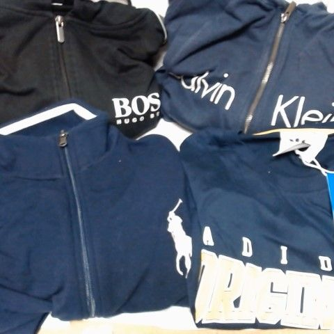LOT OF 4 ASSORTED DESIGNER CLOTHING ITEMS, TO INCLUDE CALVIN KLEIN, HUGO BOSS, RALPH LAUREN & ADIDAS (VARIOUS SIZES)