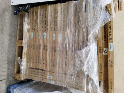 PALLET OF APPROXIMATELY 28 CALENDAR MAGNETIC GLASS DRY-ERASE BOARDS 80 × 110