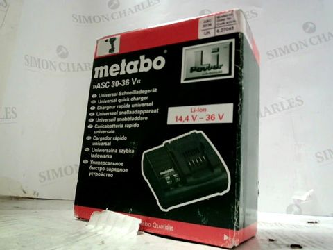 METABO UNIVERSAL QUICK CHARGER
