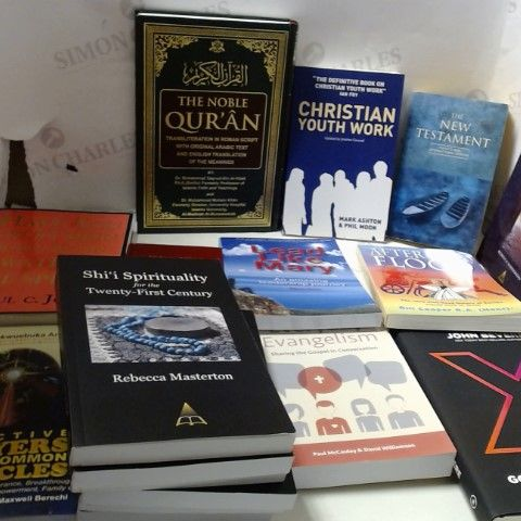 LOT OF APPROXIMATELY 18 ASSORTED RELIGIOUS, THEOLOGICAL AND SPIRITUAL BOOKS ETC