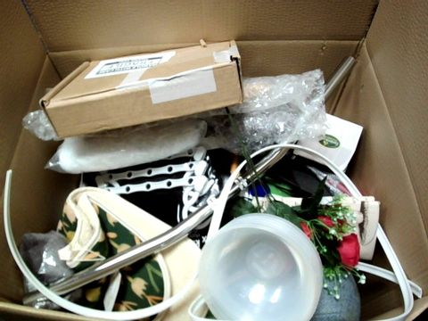 LOT OF AS IGNIFICANT QUANTITY OF ASSORTED ITEMS TO INLCUDE; HANDLEBARS, OVEN GLOVES, SOLAR LIGHT ETC