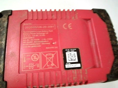 EINHELL LI-ION 4.0AH 18V POWER X-CHANGE RECHARGEABLE BATTERY PACK