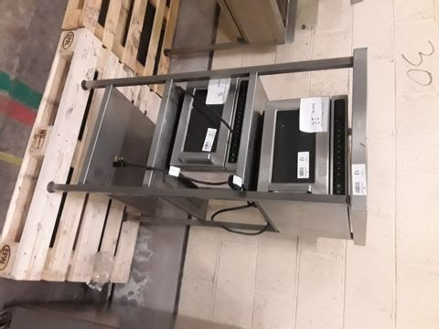 MICROWAVE STAND - 3 TIER S/S