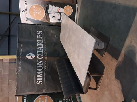DESIGNER STONEEFFECT DINING TABLE WITH BENCH